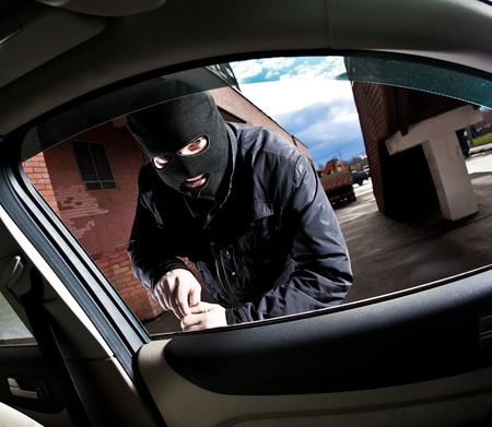 robber and the thief hijacks the car Stock Photo - 8241300