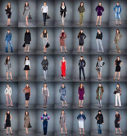 洋服: 女の子別の服に、35 個のコレクション 写真素材