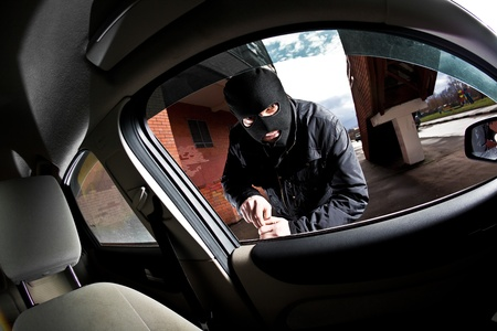 robber and the thief hijacks the car Stock Photo - 8654440