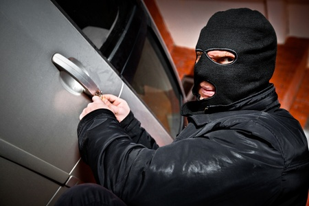 robber and the thief hijacks the car Stock Photo - 8654360