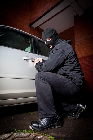 robber and the thief hijacks the car Stock Photo - 8884333