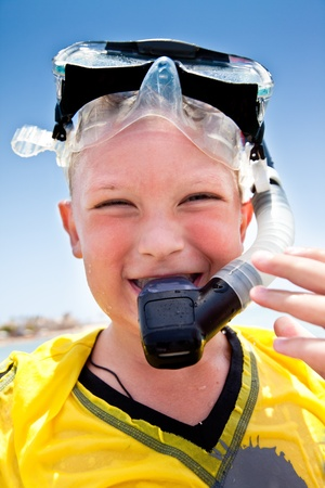 Portrait of the boy in holiday on the sea Stock Photo - 9043709