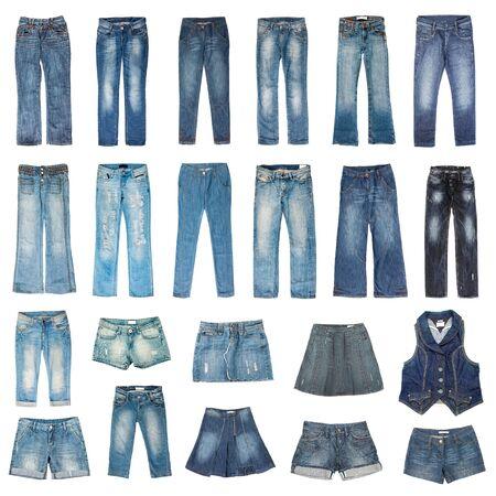 faldas: Modo de jeans