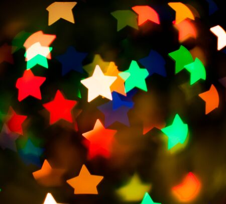 brightly colored: defocused background from multi-coloured stars