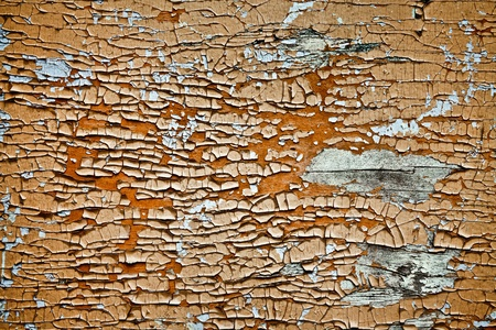 flaky: Water Damaged Paint on Wood
