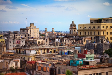 shot of old Havana city, Cuba photo