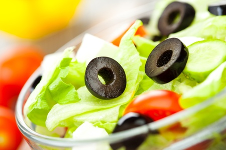 Fresh tasty salad, vegetarian food ... photo