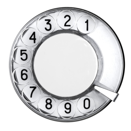 Old retro phone, a dial number photo
