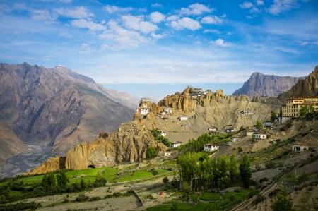 pradesh: Dhankar gompa. Spiti Valley, Himachal Pradesh, India Stock Photo