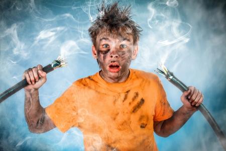 loco: Boy tiene una descarga el�ctrica