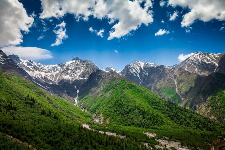 himalayas: India.Mountains and clouds.