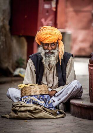 Photo street snake charmer. India. Stock Photo - 14736642
