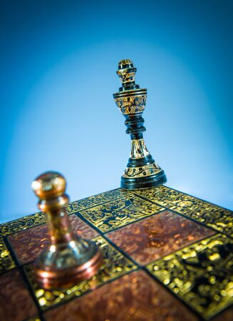 miscarry: chess checkmate on a blue background