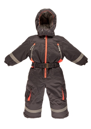 Childrens snowsuit fall on a white background photo
