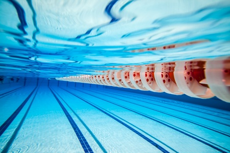 swimming pool under water     Stock Photo