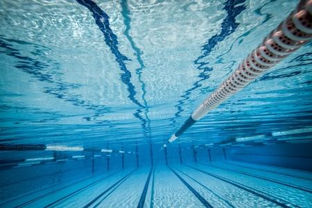 lane lines: swimming pool under water     Stock Photo