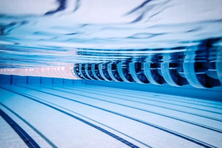 undersea: swimming pool under water     Stock Photo