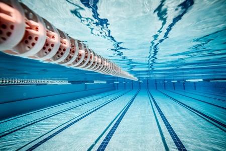 swim: swimming pool under water     Stock Photo