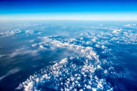 Planet Earth Luftbild Standard-Bild