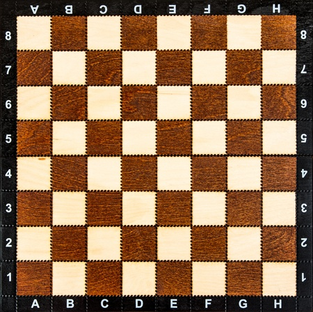 battling: empty chess board without chess pieces Stock Photo
