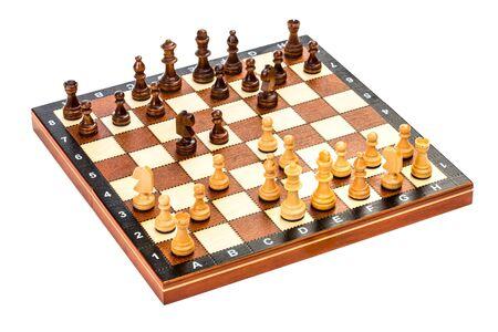 分離した白い背景の上のチェス