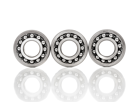 Ball bearing isolated on white background photo