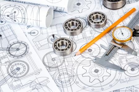 Technische tekeningen met de kogellagers