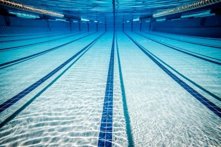 lane lines: swimming pool under water ...