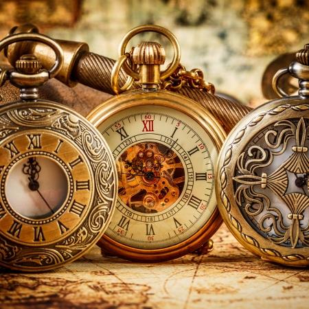 still life: Vintage Antique pocket watch.