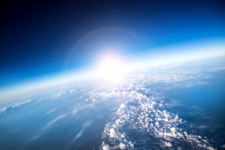 planete terre: Photo Planète Terre vue aérienne Banque d'images