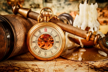 watch: Vintage Antique pocket watch.