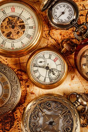 timepiece: Vintage Antique pocket watch.
