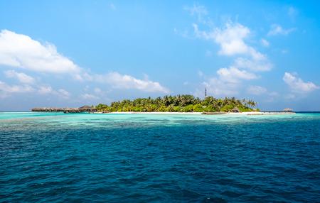 Hotel on the island. Maldives Indian Ocean photo