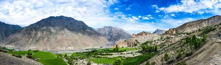 monastery nature: Dhankar gompa in Spiti Valley, Himachal Pradesh, India Stock Photo