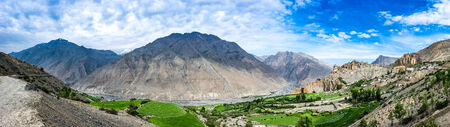 valley of the temples: Dhankar gompa in Spiti Valley, Himachal Pradesh, India Stock Photo