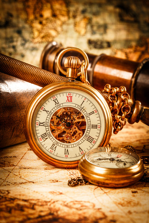 gold watch: Vintage Antique pocket watch.