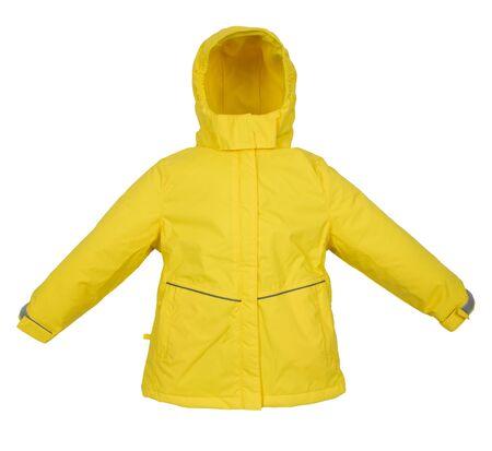 warm jacket: Childrens Winter warm jacket isolated on white background