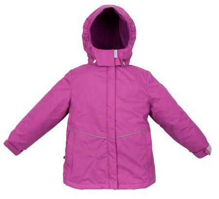 jupe: Childrens Winter warm jacket isolated on white background