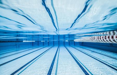 swimming underwater: swimming pool under water ...