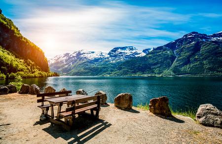 naturel: Beau paysage naturel Nature Norvège.