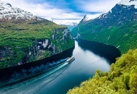 Geiranger fjord, Beautiful Nature Norway