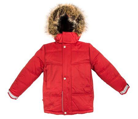 jupe: Winter warm jacket isolated on white background