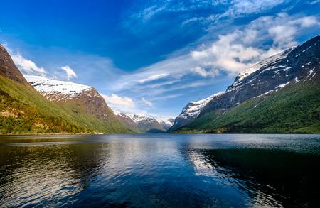 Beautiful Nature Norvegia paesaggio naturale. Archivio Fotografico