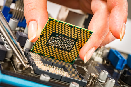 component: Modern processor and motherboard for a home computer