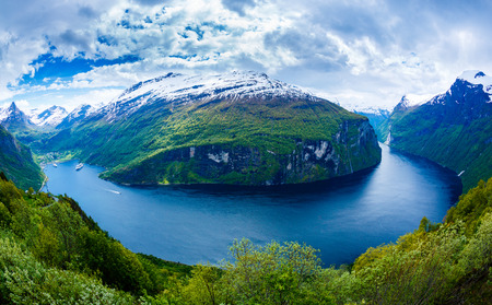 norway: Geiranger fjord, Beautiful Nature Norway