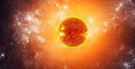 Photo of the sun in space