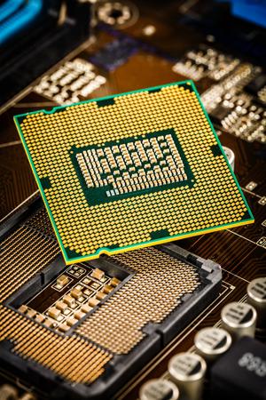 Moderne Prozessor und Mainboard für einen Computer zu Hause