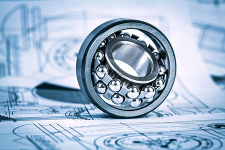 bearings: Technical drawings with the Ball bearings