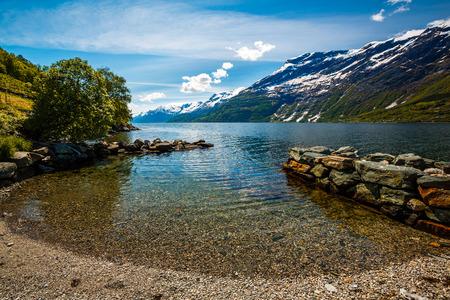 NATURE: Hermosa Naturaleza Noruega paisaje natural.