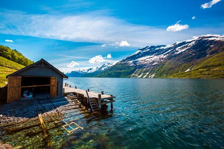 landscape: Beautiful Nature Norway natural landscape.